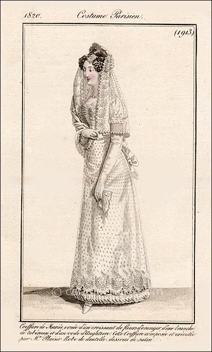 French Bridal Dress July 1820