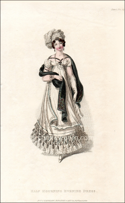 Half Mourning Evening Dress January 1819