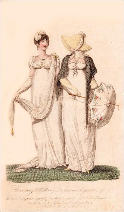 Evening and Walking Dresses September 1807
