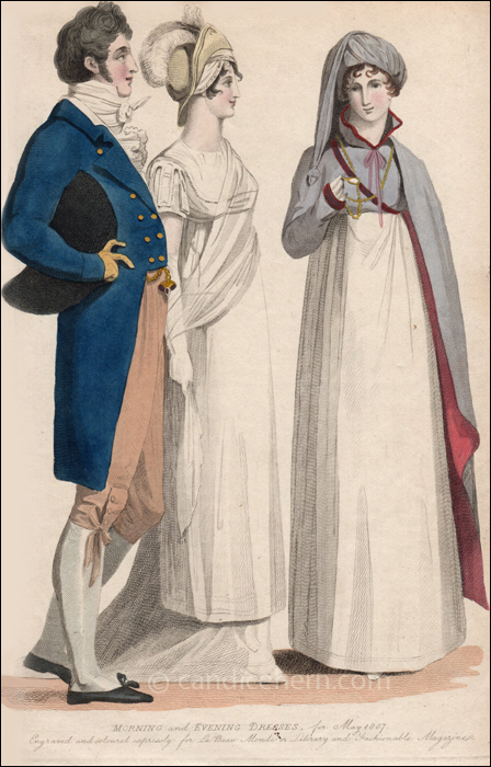 Morning and Evening Dress May 1807