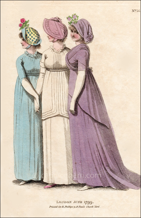 Walking Dresses June 1799