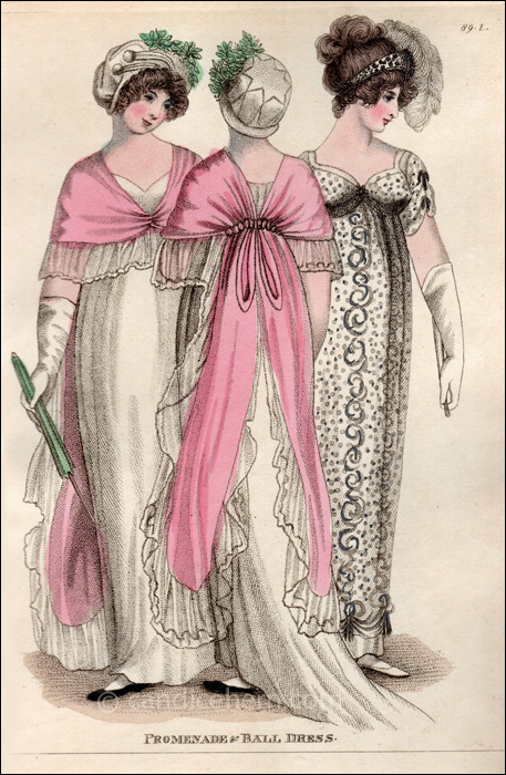 Promenade and Ball Dress June 1805