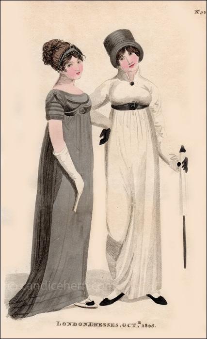 Half Mourning Dresses October 1805