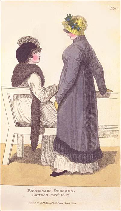 Promenade Dresses November 1802