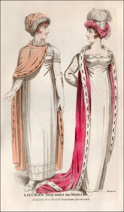 Evening Dresses March 1808