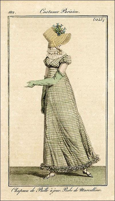 Walking Dress, July 1812