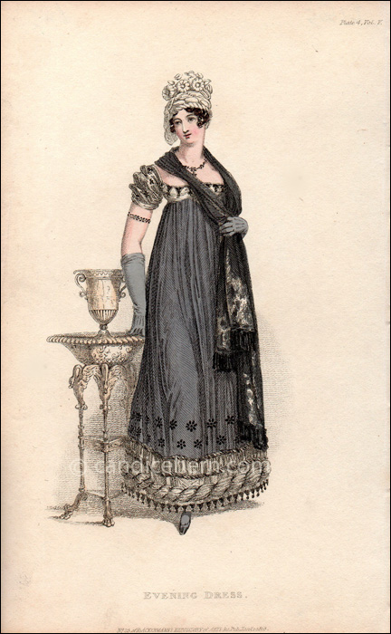 Eveing Mourning Dress January 1818