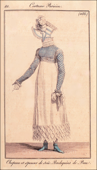 French Walking Dress November 1811