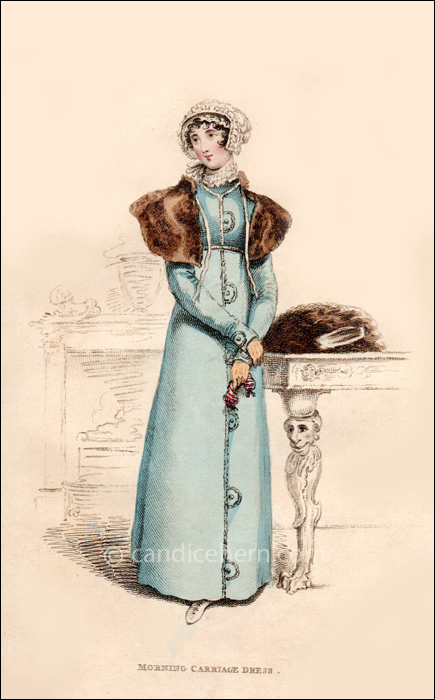 Morning Carriage Dress, January 1814 - CandiceHern.com