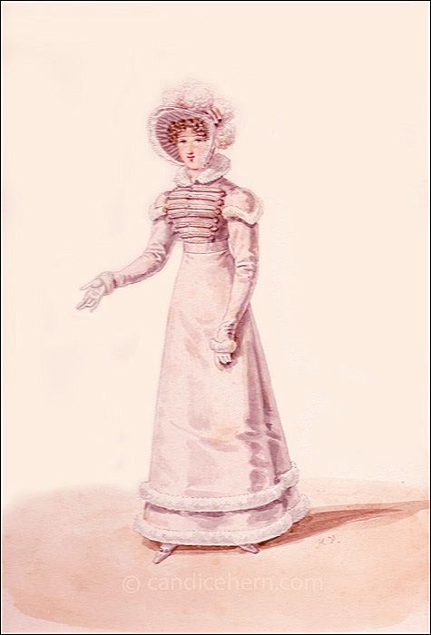 Walking Dress March 1821 original